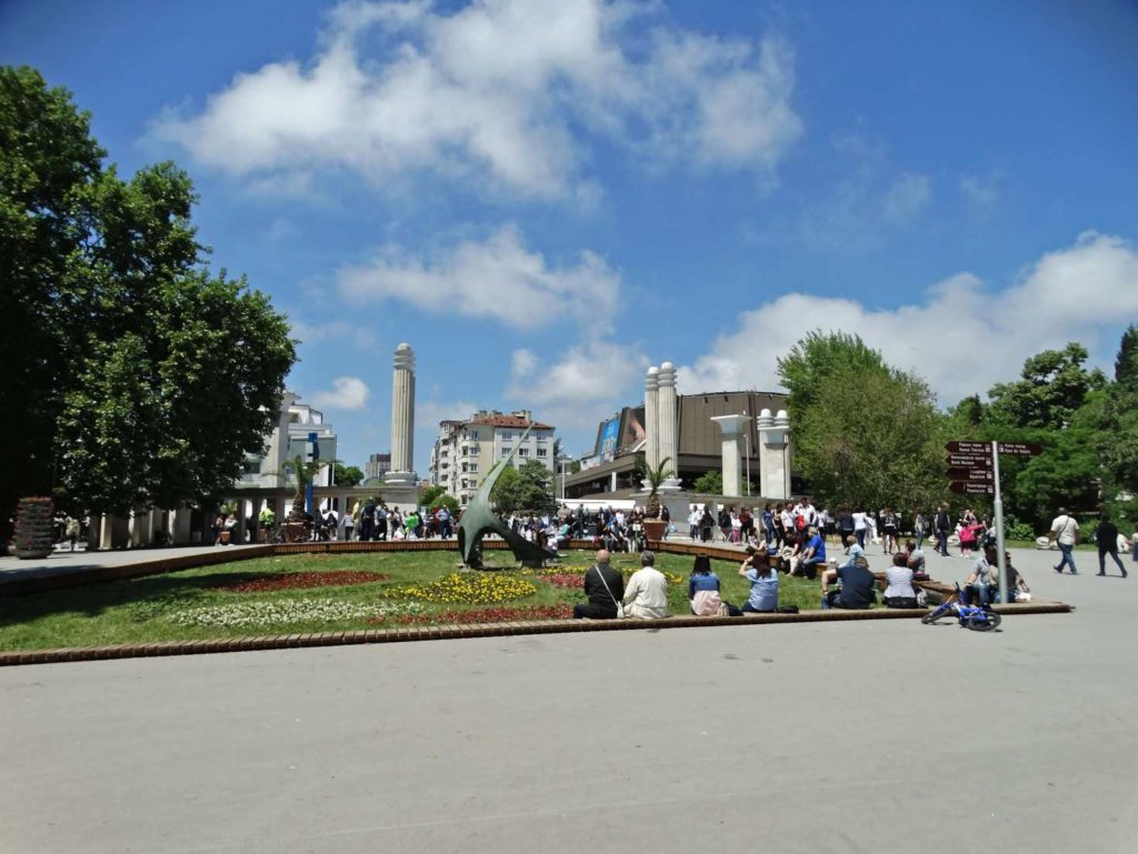 The city center of Varna, sightseeing trip